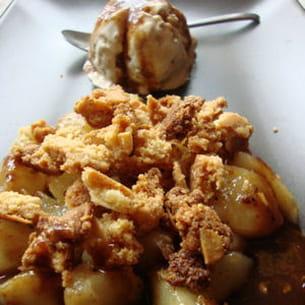 crumble aux poires et poivre de sichuan