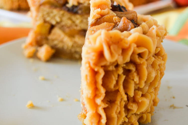 Minis layer-cake spéculoos, pommes, caramel au beurre salé
