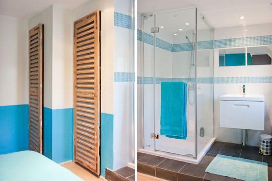 Une salle d\'eau dans la chambre