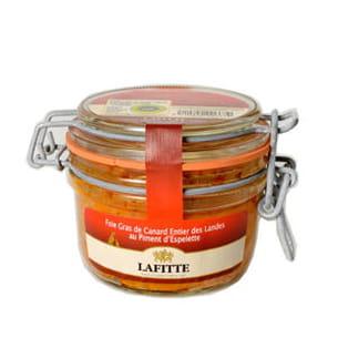 foie gras de canard au piment d'espelette de maison lafitte