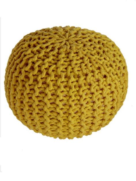 Pouf tricoté
