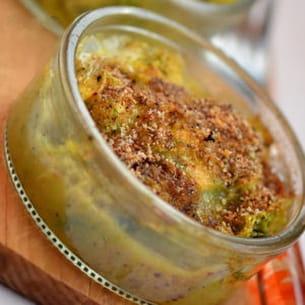 gratin de courgettes au curry et chèvre