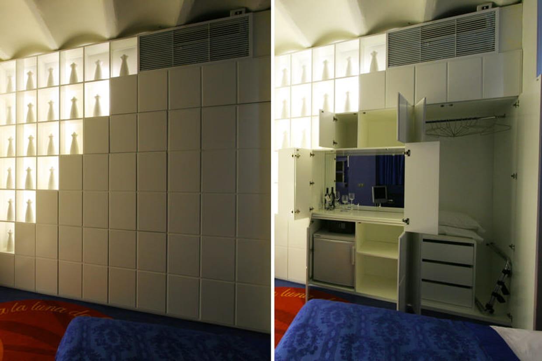 un mur d co qui cache bien son jeu. Black Bedroom Furniture Sets. Home Design Ideas