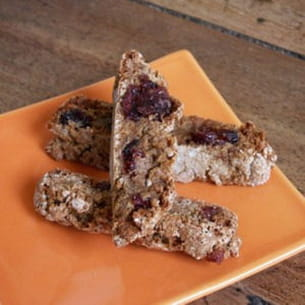 biscotti châtaigne-cranberry