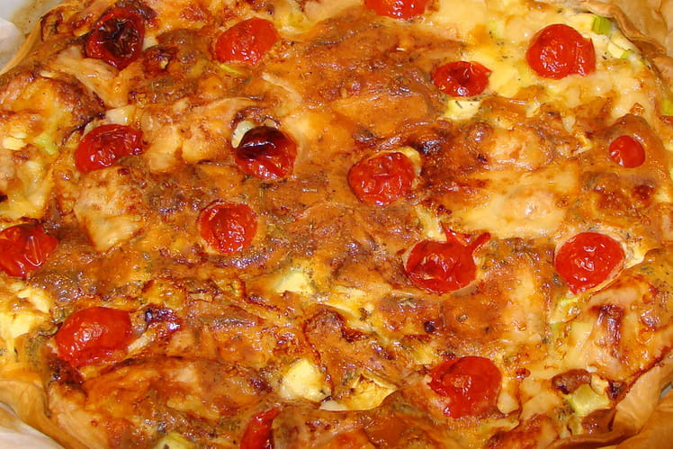 Quiche courgette-fromage
