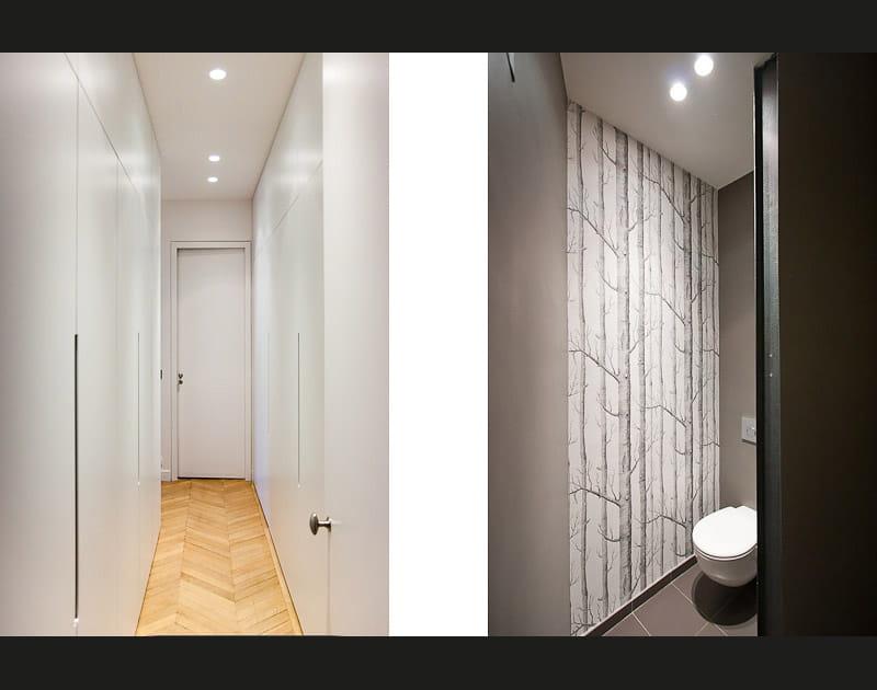 Un dressing dissimulé dans un couloir
