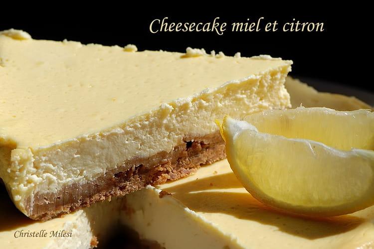 Cheesecake miel et citron
