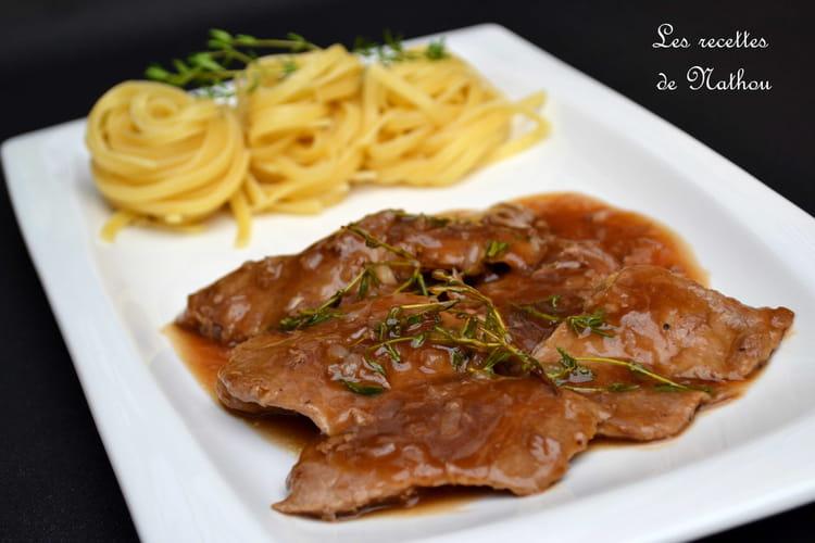 Recette Escalopes de veau, sauce au vin Marsala, échalote et thym on