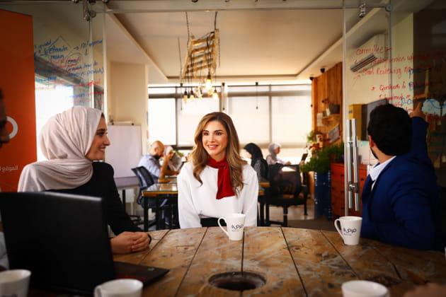 La princesse Rania de Jordanie... en Jordanie