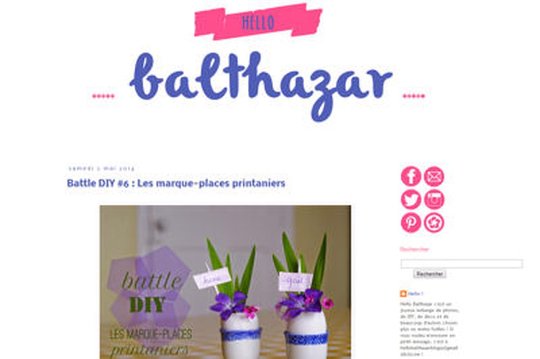 Le blog du moment: Hello Balthazar