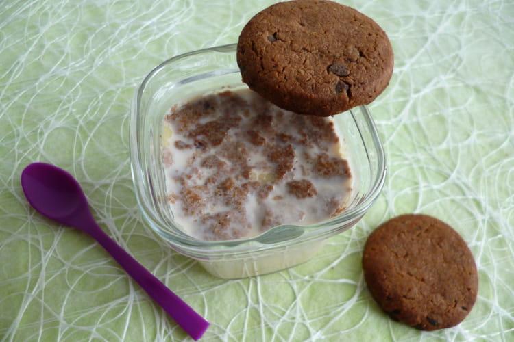 Yaourts maison allégés aux cookies chocolatés