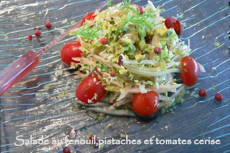 Salade au fenouil, pistaches et tomate cerise