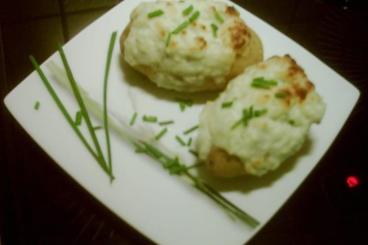 Pommes de terre au yaourt et roquefort