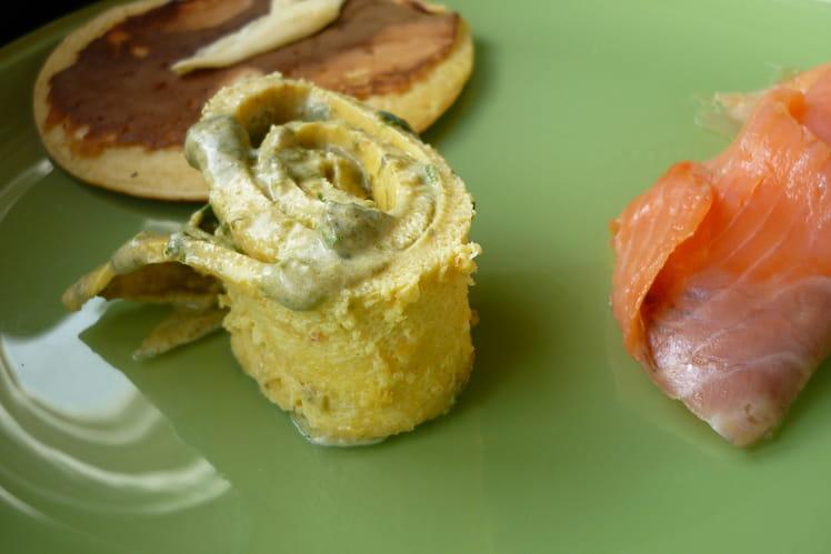 Roulé d'omelette à l'oseille