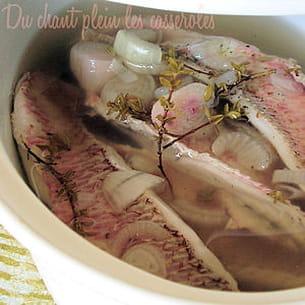 rougets marinés au vin blanc