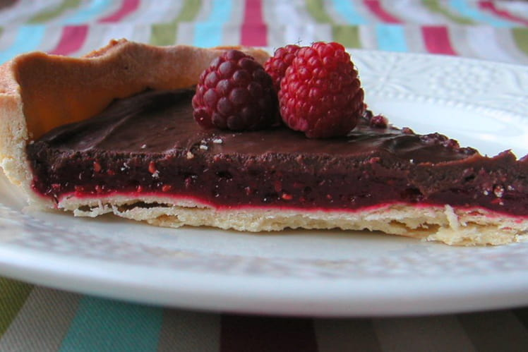 Tarte aux fruits rouges et au chocolat