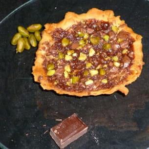 mini pizza pomme-chocolat-pistache
