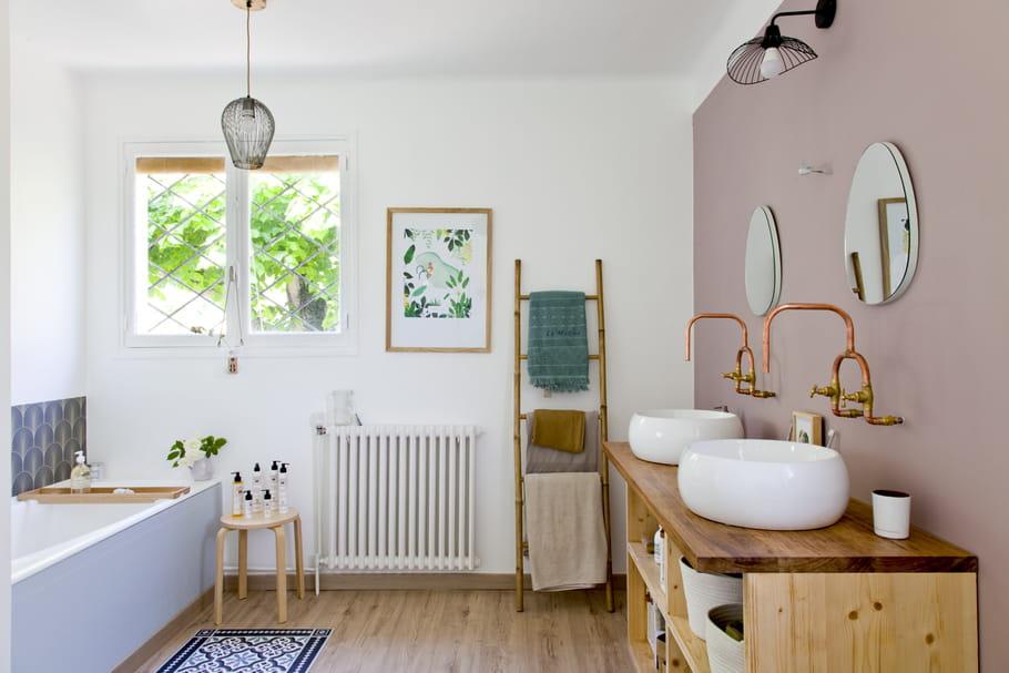 5 idées à copier dans cette salle de bains un brin récup\'