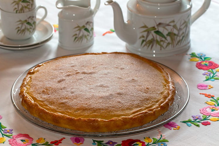 Torta de la Virgen à la marmelade d'orange et amandes