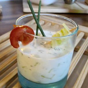 fraîcheur de concombre à la grecque