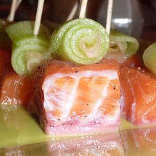 bouchées de saumon