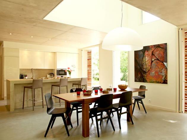 Une cuisine ouverte sur la nature