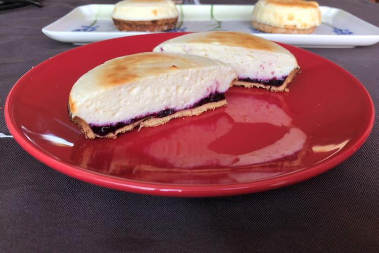 Tarte à la myrtille soufflé au fromage blanc de brebis