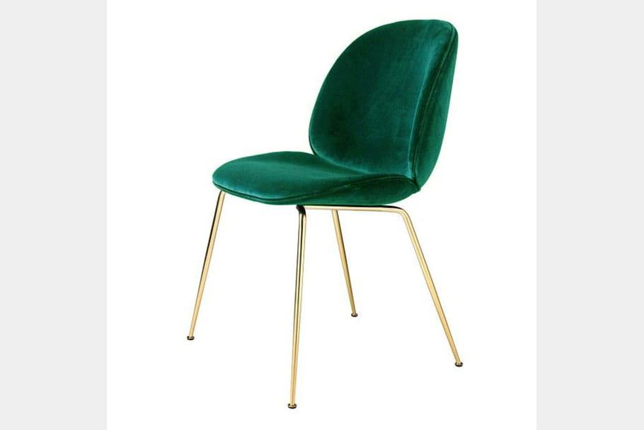chaise en velours gamfratesi par the conran shop. Black Bedroom Furniture Sets. Home Design Ideas