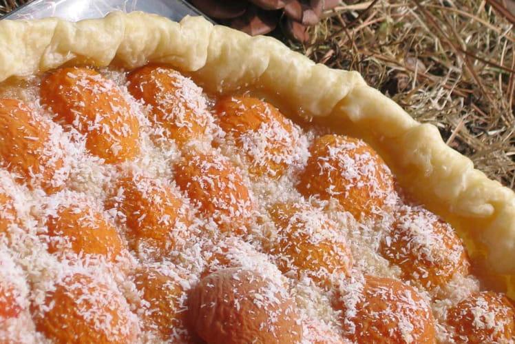 Tarte abricot-coco