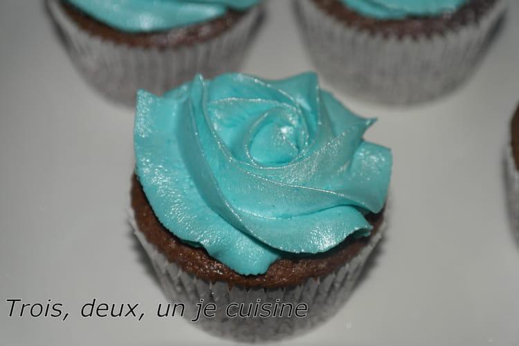 Cupcakes chocolat, glaçage mascarpone