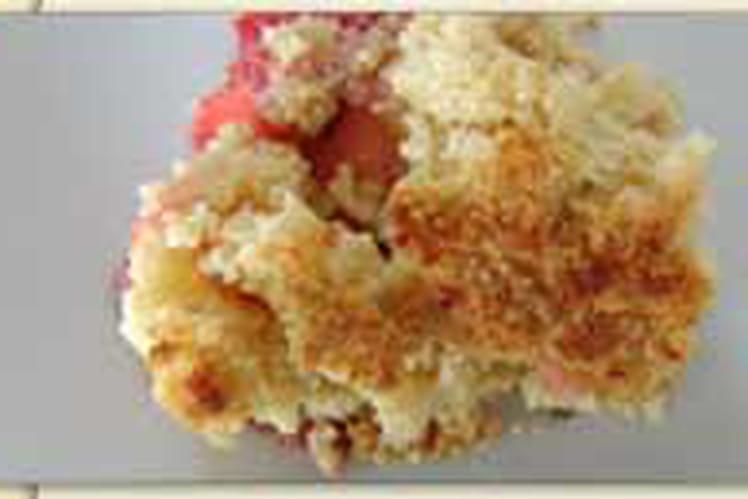Crumble pommes-fraises