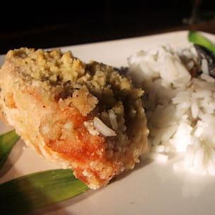 crumble de saumon au boursin