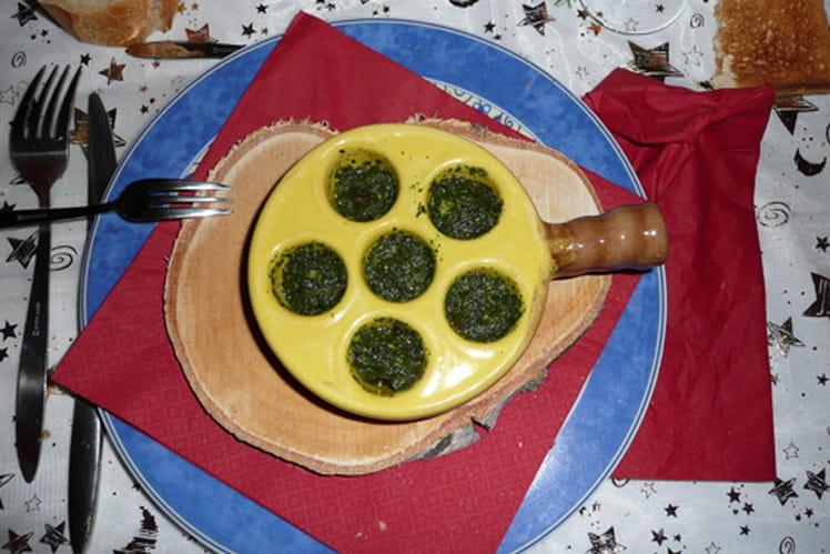 Beurre d'escargot au persil, ail et échalotes