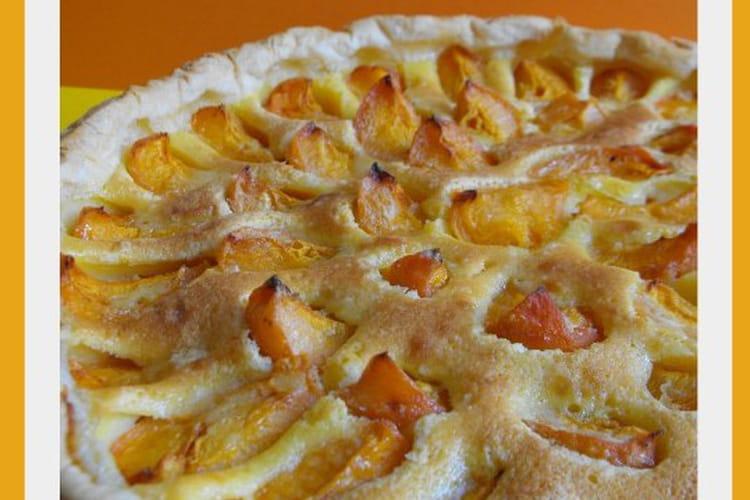 Tarte aux abricots et à la crème
