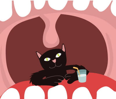 avoir un chat dans la gorge, c'est l'assurance d'une voix enrouée.