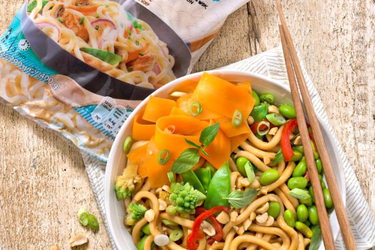 Wok de Udon végétarien