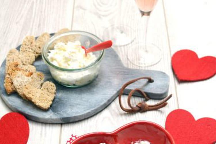 Tartinade au chèvre frais, ricotta et piment d'Espelette