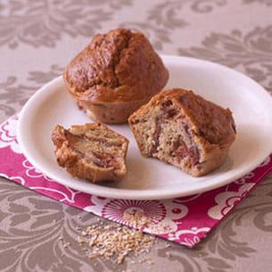 muffins aux figues, magret et son d'avoine
