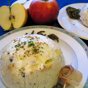 dôme de céleri-rave, chèvre et pomme