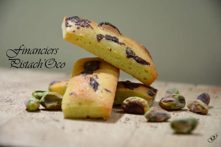 Financiers pistache chocolat