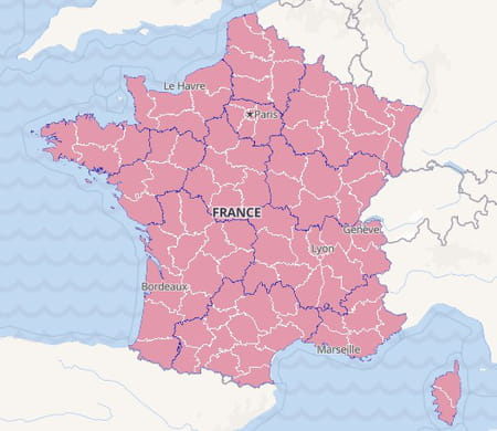 Carte d'incidence France