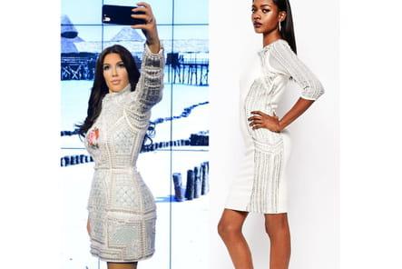 Kim Kardashian : une robe ornée