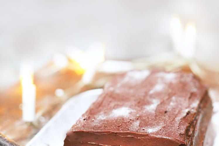 Bûche de Noël chocolat-mangue