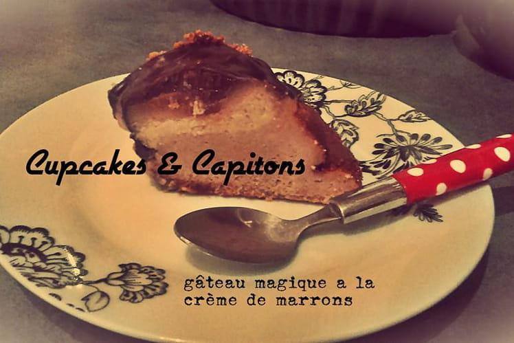 Gâteau magique à la crème de marron