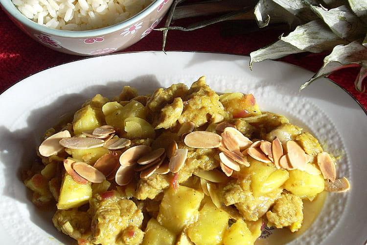 Curry de veau à l'ananas frais