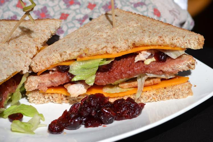Sandwich dinde et cranberries