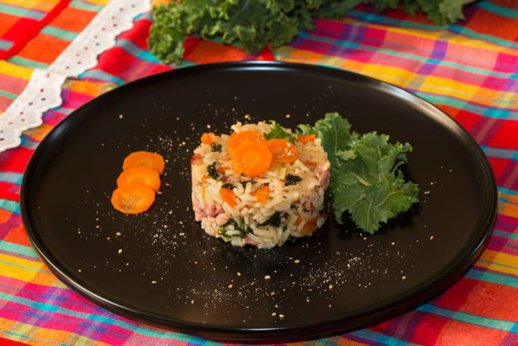 Riz pilaf au chou kale frisé