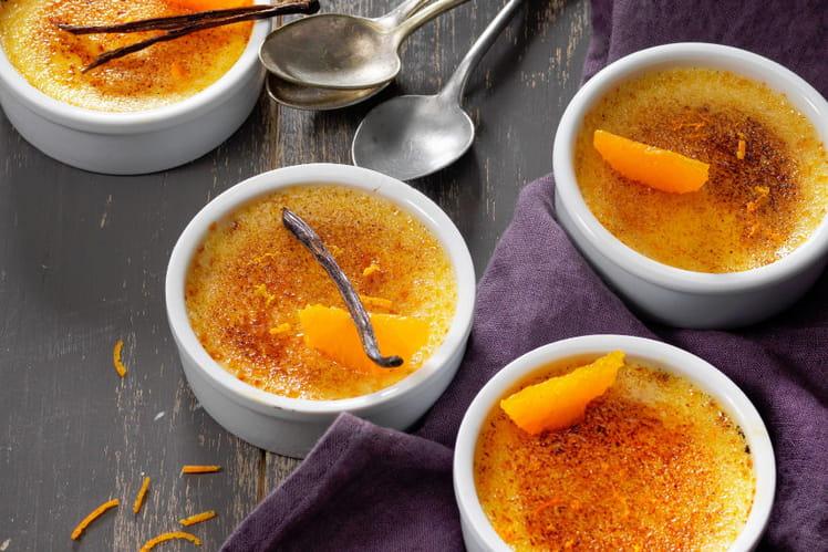 Crème brulée au Carré Frais et aux zestes de clémentine