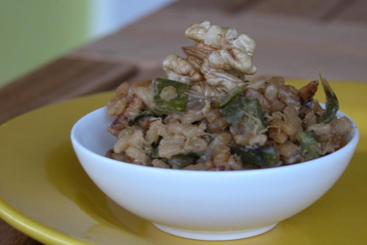 Risotto crémeux de courgettes et parmesan