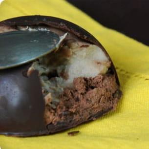 mystères chocolat tonka, mousse de banane